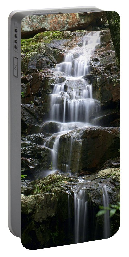 Waterfalls Portable Battery Charger featuring the photograph E Falls by Marty Koch