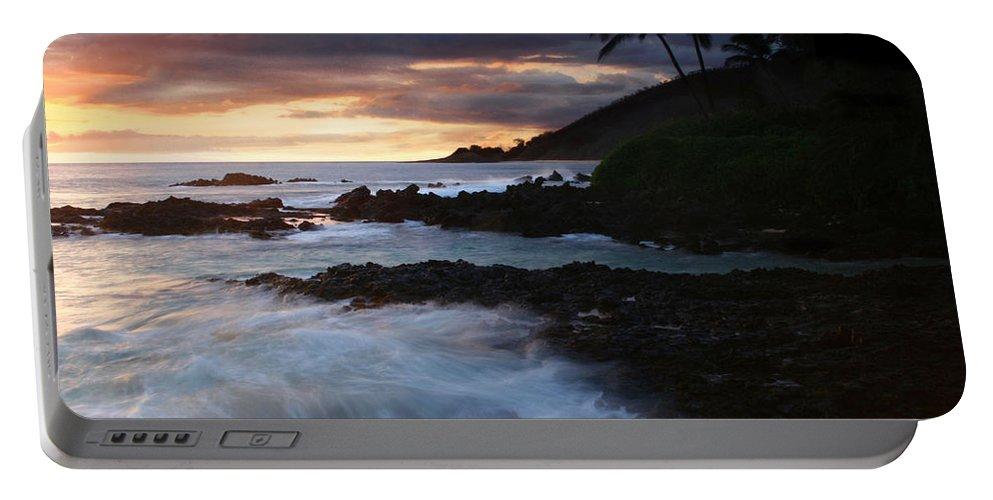 Aloha Portable Battery Charger featuring the photograph E Hamau O Makani Mai Auanei Aloha Paako by Sharon Mau