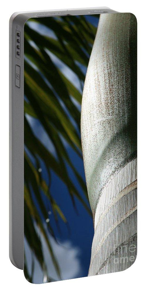 Palm Trees Portable Battery Charger featuring the photograph E Hawaii Aloha E by Sharon Mau