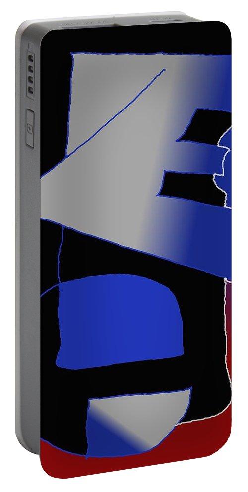 Eu Portable Battery Charger featuring the digital art E-likes-eu by Helmut Rottler