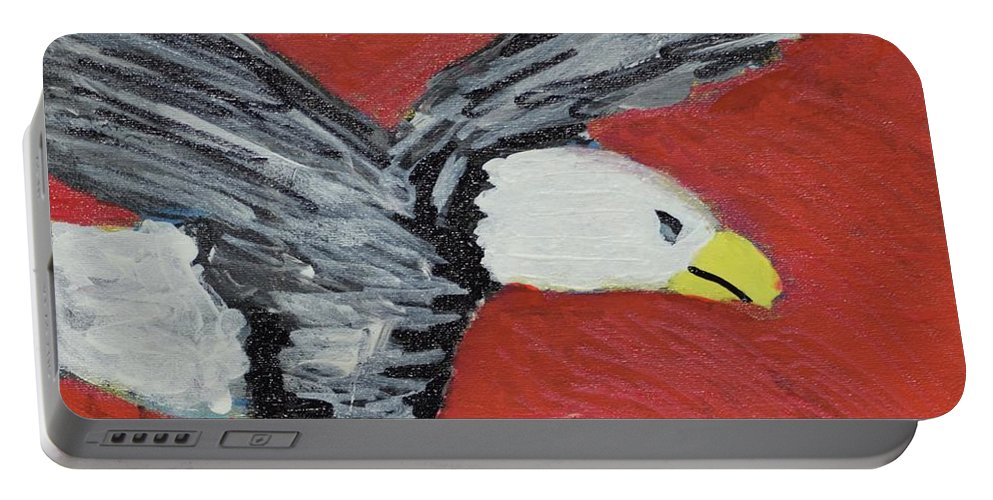 Eagle Portable Battery Charger featuring the painting Eagle by Aj Watson