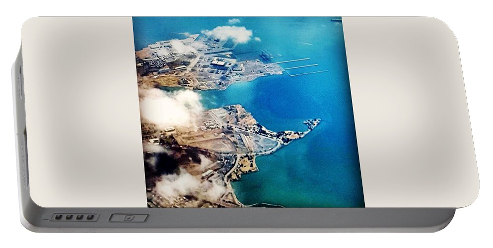 Eagle Eye Portable Battery Charger featuring the photograph Eagle Eye Of An Ocean Bay by Shannon Elizabeth