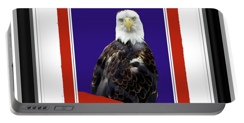 Portable Battery Charger featuring the photograph Eagle Eye by Shirley Moravec