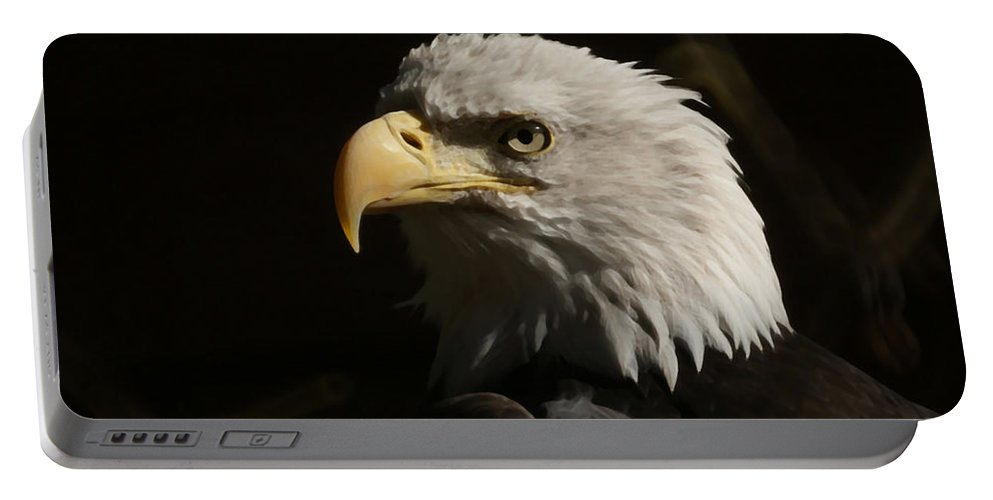 Animal Portable Battery Charger featuring the photograph Eagle Profile 2 by Ernie Echols