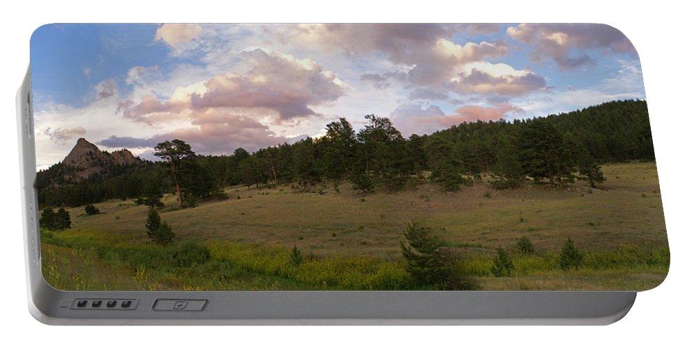 Eagle Roick Portable Battery Charger featuring the photograph Eagle Rock Estes Park Colorado by Heather Coen