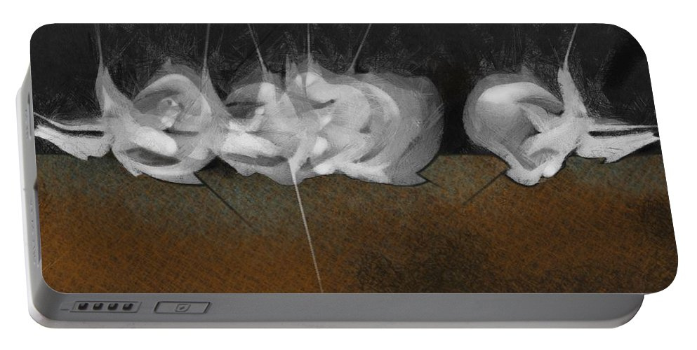 Portable Battery Charger featuring the digital art EAR by Ramon Avila