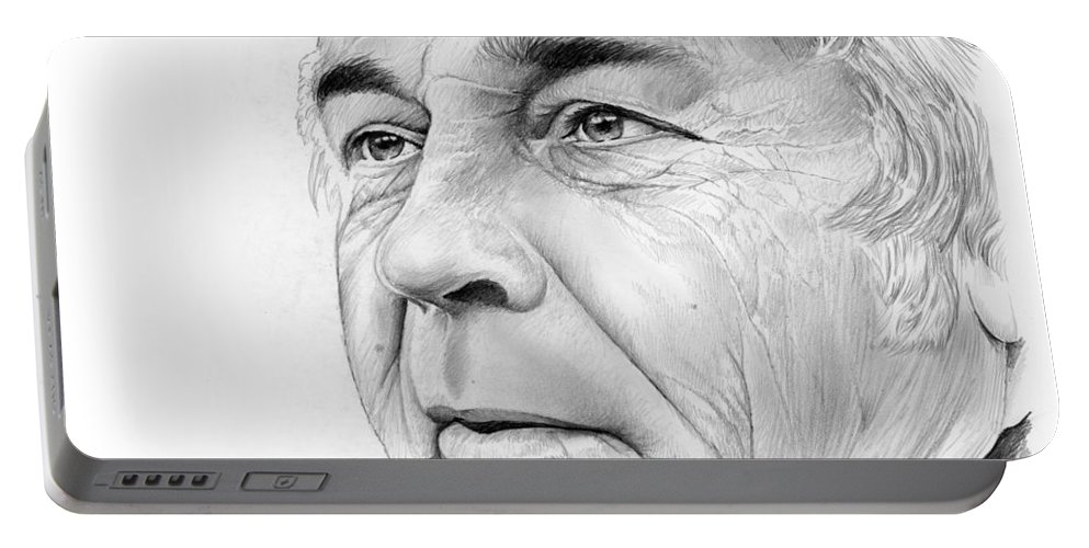 Earl Weaver Portable Battery Charger featuring the drawing Earl Weaver by Greg Joens