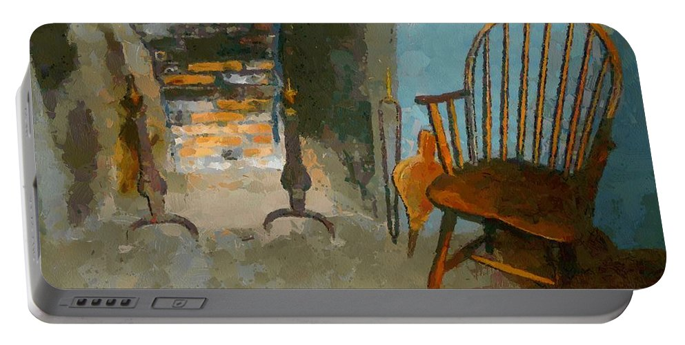 Americana Portable Battery Charger featuring the painting Early American Contemporary by RC DeWinter