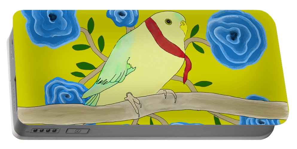 Early Bird Portable Battery Charger featuring the digital art Early Bird by Priscilla Wolfe