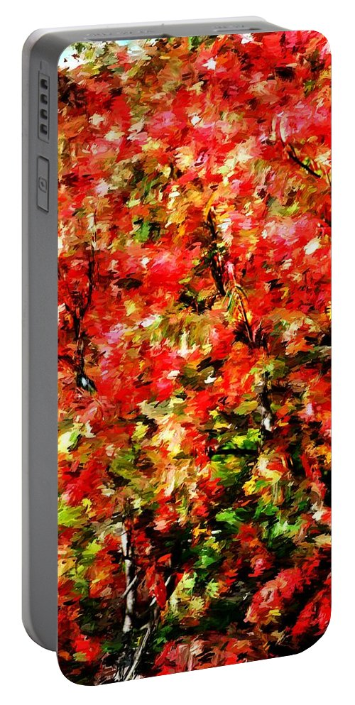 Abstract Digital Photo Portable Battery Charger featuring the photograph Early Color Painting by David Lane