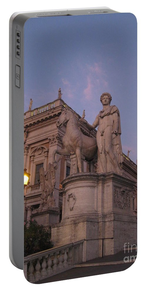 Sunset Portable Battery Charger featuring the photograph Early Evening Rome Number Two by John Malone
