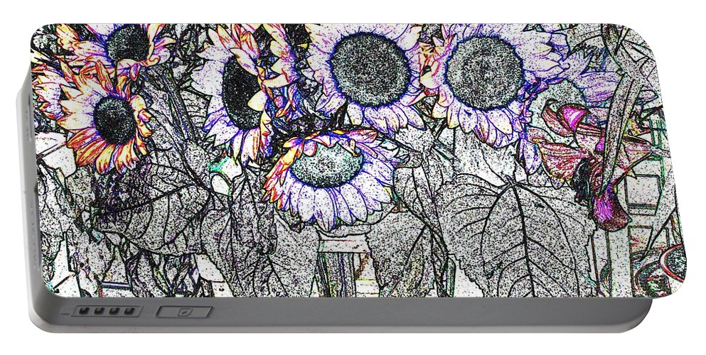 Flower Portable Battery Charger featuring the digital art Early Flower Study by Ian MacDonald