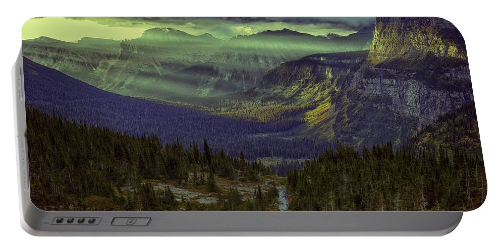 Wyoming Portable Battery Charger featuring the photograph Early In The Morning by Michael J Samuels