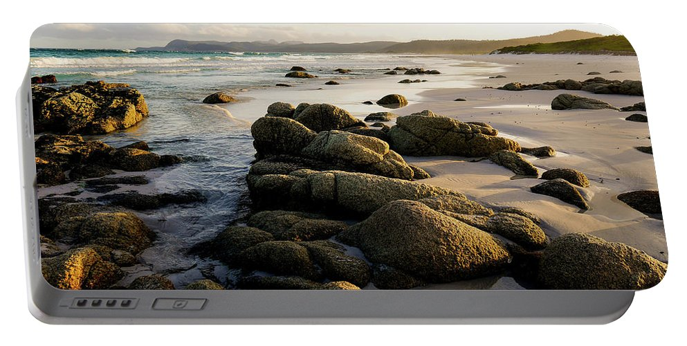Friendly Beaches Freycinet National Park Portable Battery Charger featuring the photograph Early Morning At Friendly Beaches by Lexa Harpell