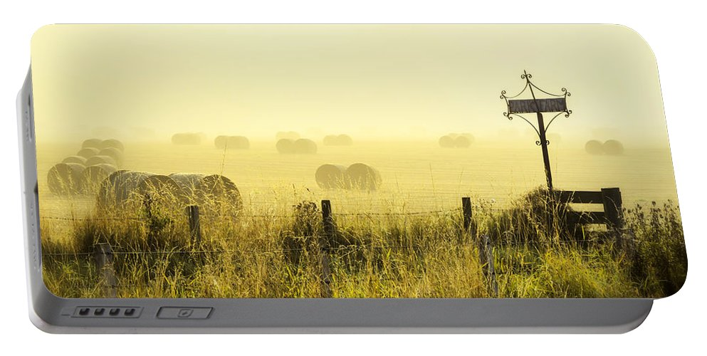 Sony Portable Battery Charger featuring the photograph Early Morning At The Farm by Jeremy Lavender Photography