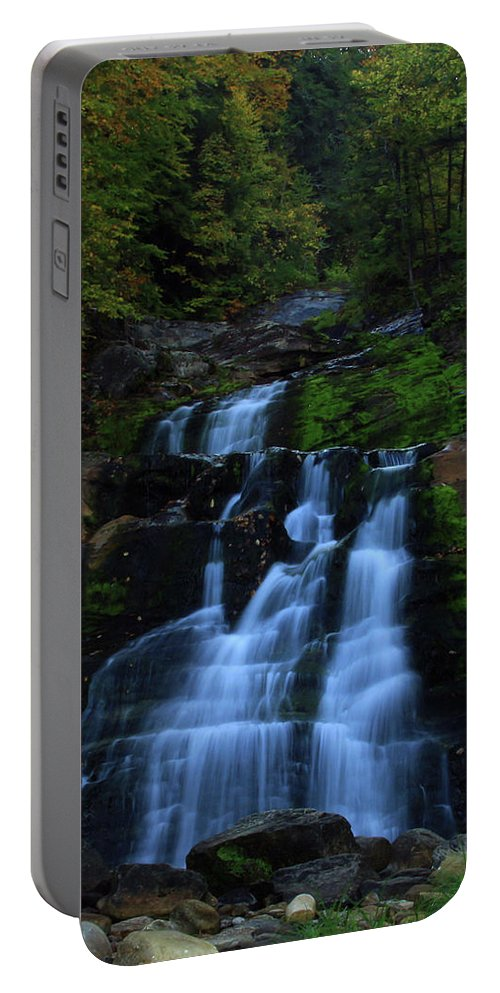 Waterfalls Portable Battery Charger featuring the photograph Early Morning Falls by Karol Livote