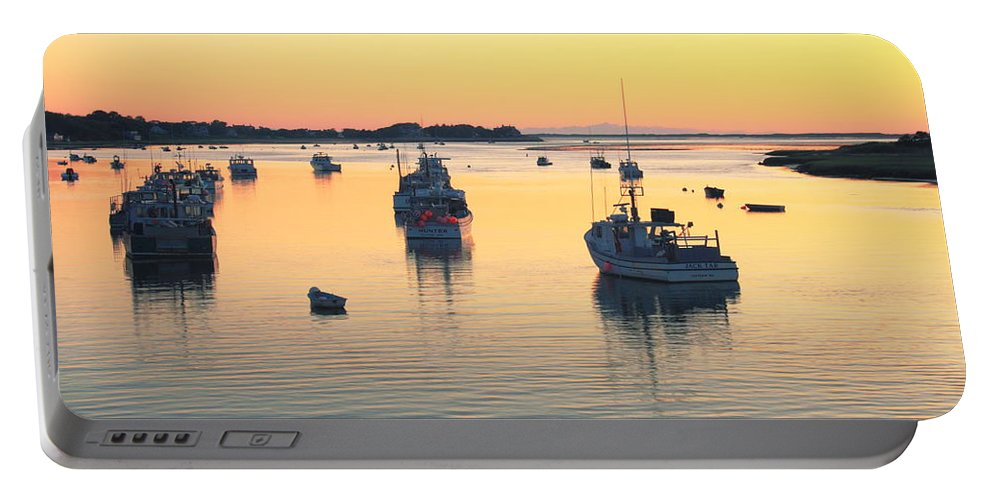 Chatham Portable Battery Charger featuring the photograph Early Morning In Chatham Harbor by Roupen Baker
