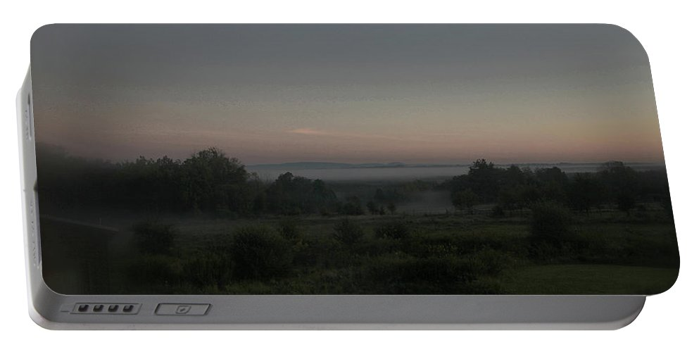 Landscapes Portable Battery Charger featuring the photograph Early Morning Mist by Guy Ciarcia