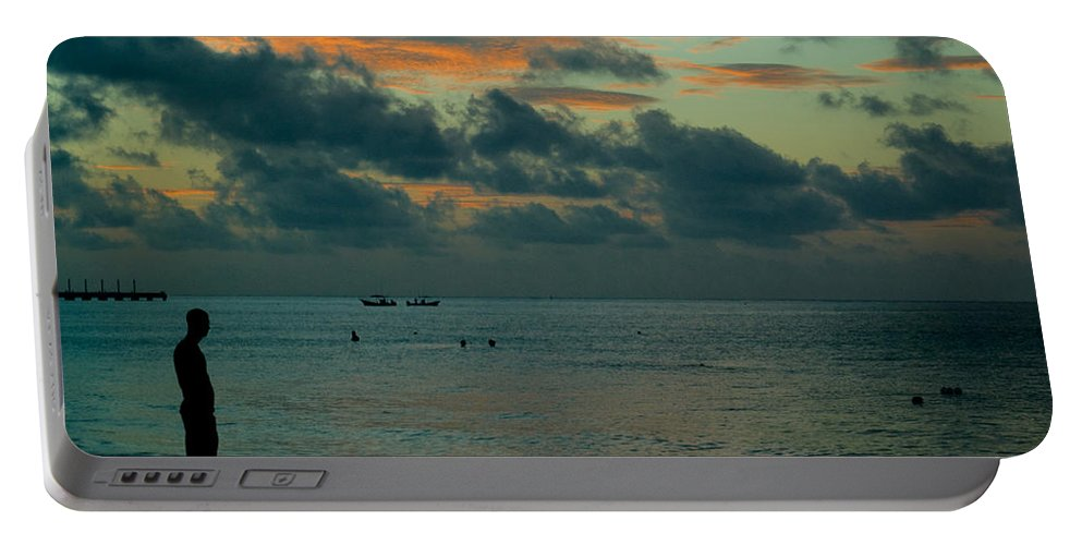 Sea Portable Battery Charger featuring the photograph Early Morning Sea by Douglas Barnett