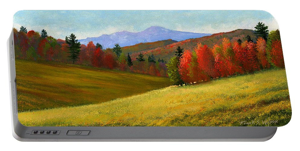 Landscape Portable Battery Charger featuring the painting Early October by Frank Wilson