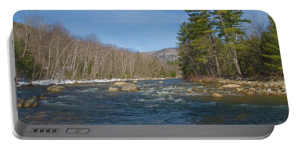 white Mountains Portable Battery Charger featuring the photograph Early Spring by Paul Mangold