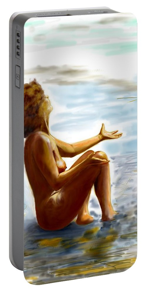 Lady Portable Battery Charger featuring the digital art Early Summer In Bavaria by Helmut Rottler