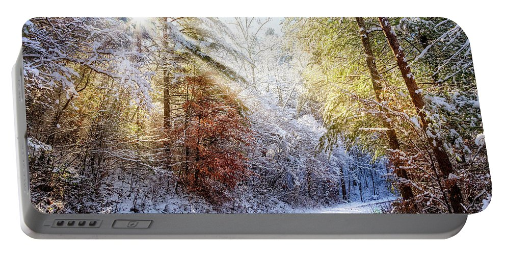 Appalachia Portable Battery Charger featuring the photograph Early Winter's Walk by Debra and Dave Vanderlaan