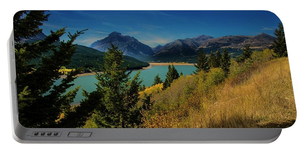 Lake Portable Battery Charger featuring the photograph East Glacier Lake by Roy Nierdieck