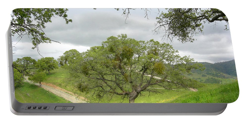 Landscape Portable Battery Charger featuring the photograph East Ridge Trail - Spring by Karen W Meyer