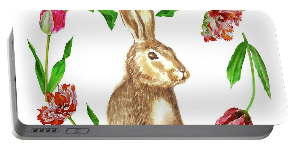 Easter Portable Battery Charger featuring the digital art Easter Background by Natalia Piacheva
