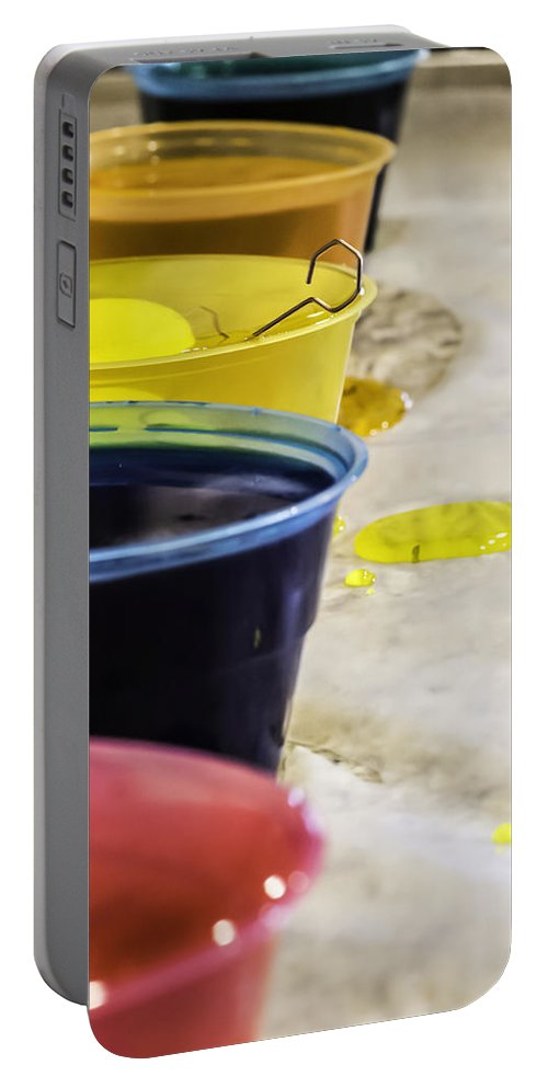Easter Portable Battery Charger featuring the photograph Easter Eggs by Chris Coffee