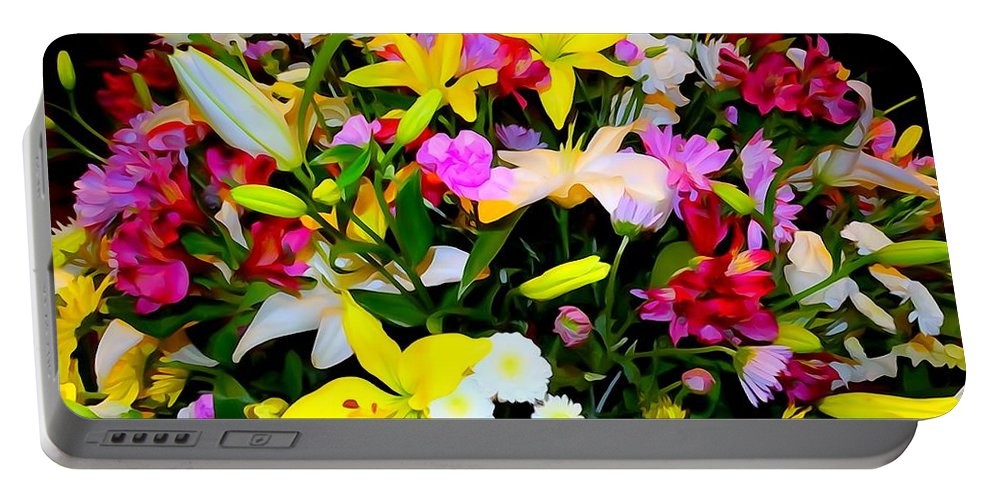 Digital Art Portable Battery Charger featuring the photograph Easter Flowers by Ed Weidman