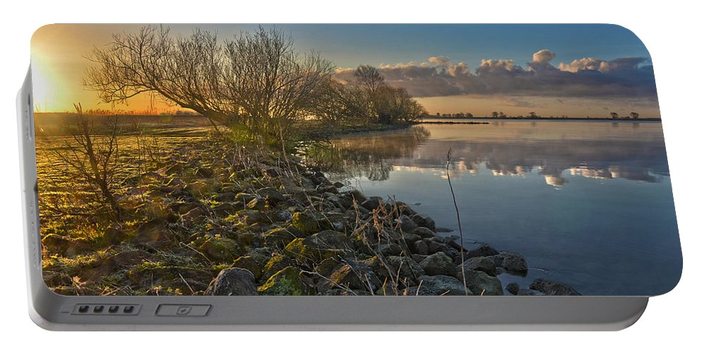 Holland Portable Battery Charger featuring the photograph Easter Sunrise by Frans Blok