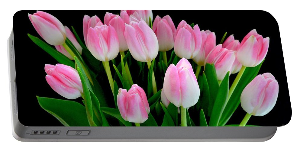 Easter Tulips Portable Battery Charger featuring the photograph Easter Tulips by Jeannie Rhode