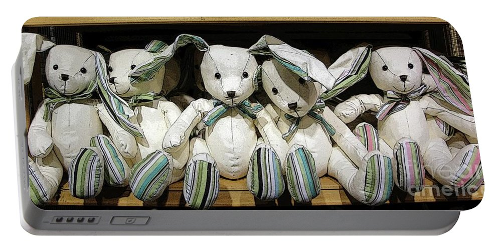 Rabbits Portable Battery Charger featuring the photograph Easterganger by Ron Bissett