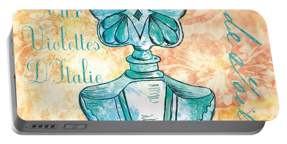 Perfume Portable Battery Charger featuring the painting Eau De Toilette by Debbie DeWitt
