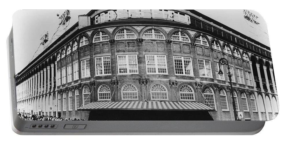 Historic Portable Battery Charger featuring the photograph Ebbets Field, Brooklyn, Nyc by Photo Researchers