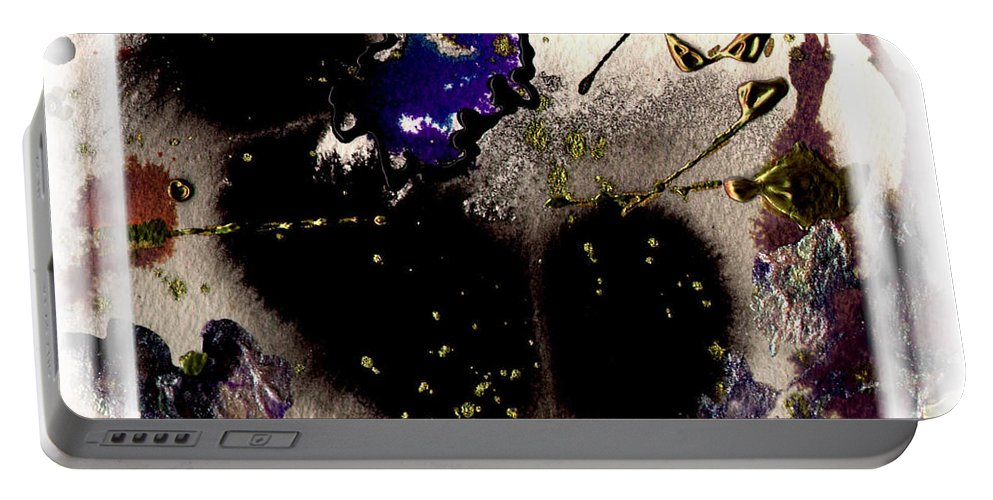 Night Portable Battery Charger featuring the mixed media Ebony Nights by Angela L Walker
