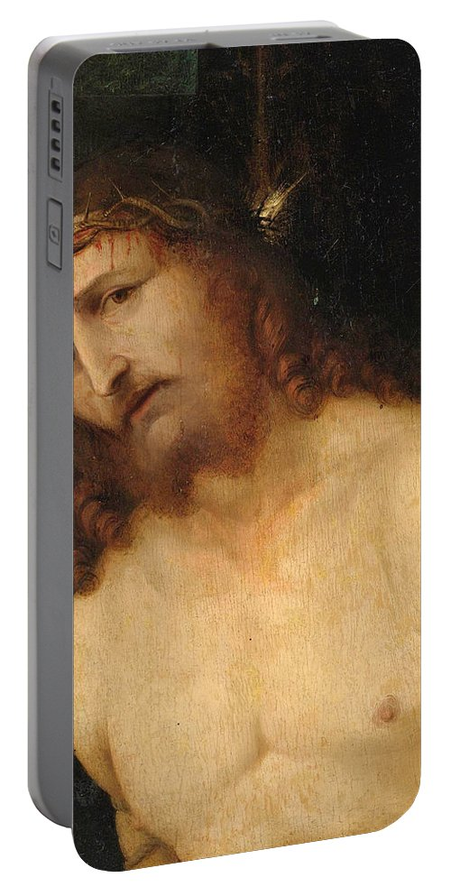 Lorenzo Lotto Portable Battery Charger featuring the painting Ecce Homo by Lorenzo Lotto