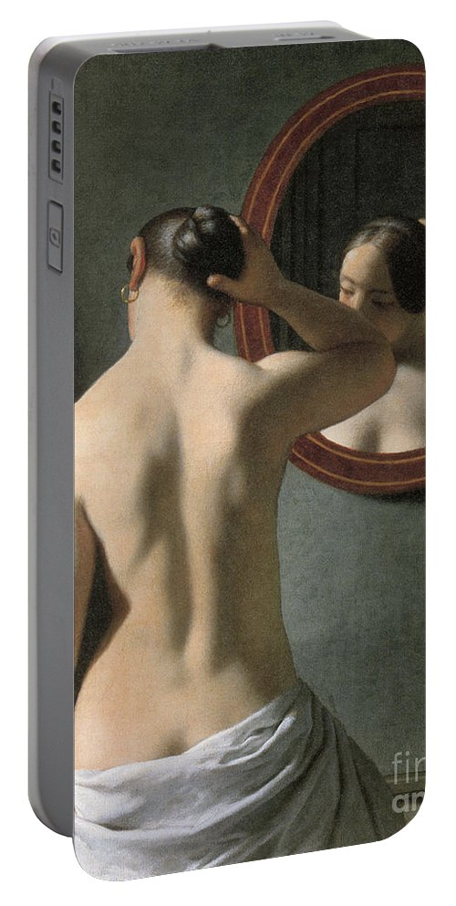 1837 Portable Battery Charger featuring the photograph Eckersberg: Nude, C1837 by Granger