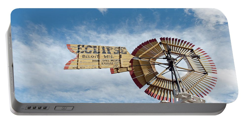 Windmill Portable Battery Charger featuring the photograph Eclipse by David Arment