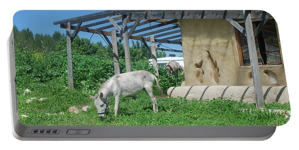 Tranquil Portable Battery Charger featuring the photograph Ecological Farm by Yotam Jacobson