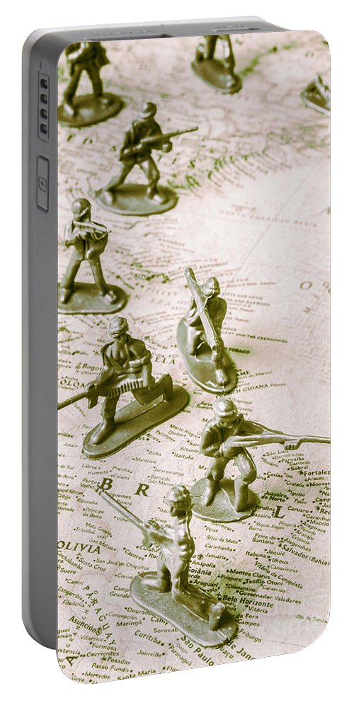 Troops Portable Battery Charger featuring the photograph Economic Hit Men by Jorgo Photography - Wall Art Gallery