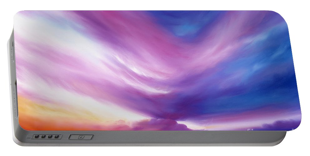 Clouds Portable Battery Charger featuring the painting Ecstacy by James Christopher Hill