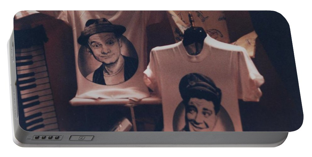 The Honeymooners Portable Battery Charger featuring the photograph Ed And Ralphie Boy by Rob Hans