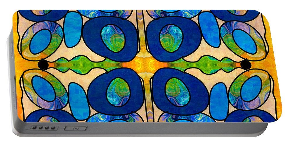 2015 Portable Battery Charger featuring the digital art Edible Extremes Abstract Bliss Art By Omashte by Omaste Witkowski