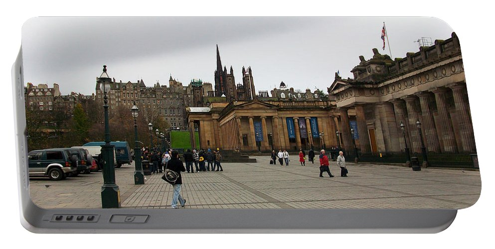 Edinburgh Portable Battery Charger featuring the photograph Edinburgh - The Museum by Munir Alawi