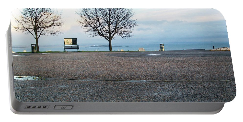 Photograph Portable Battery Charger featuring the photograph Edinburgh - Two Trees At Caption Hill by Munir Alawi