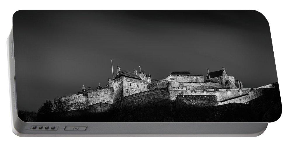 Landscape Portable Battery Charger featuring the photograph Edinburgh Castle by Richard Parsons