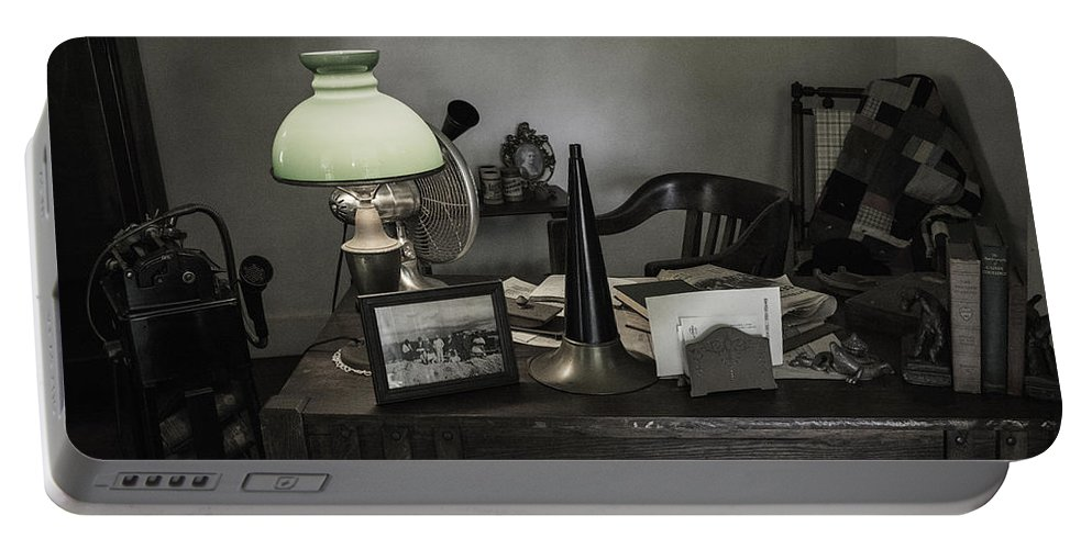 Edison Portable Battery Charger featuring the photograph Edison's Summer Home 0434 by Bob Neiman